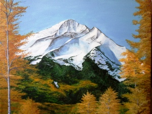 Fall Beneath the Peaks. 2013. Acrylic on canvas. 20x24