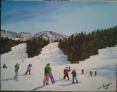 Opening Day at Abay. 2013. Acrylic on canvas. 8x10