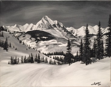 Crested Butte. 2016. Acrylic on Canvass.11x14