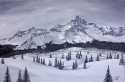 Winter Peak. 2014. Acrylic on Canvas. 20x30