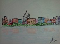 Madison in Crayola. 2012. Sharpie and Crayon. 8x11