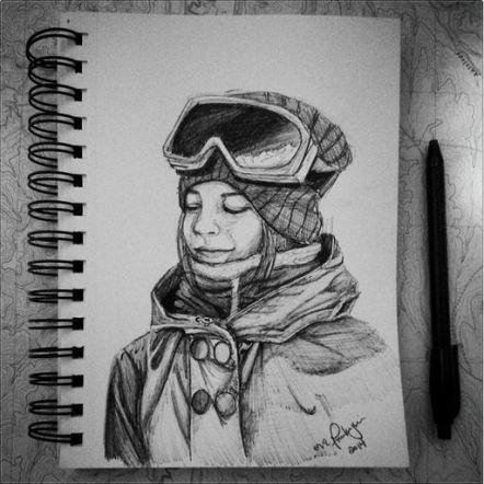 Snowboard Chick. 2014. 5x7