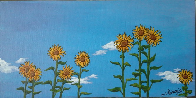 Sarah's Sunflowers. 2013.