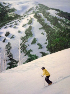 close up ski