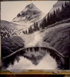 Sneffels. 2013. Acrylic on canvas. 14x14