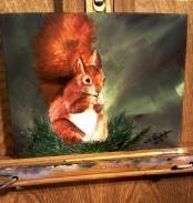 Cat's Squirrel. 5x7