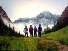 Summer's Black Diamond. 2014. Acrylic on canvas. 18x24