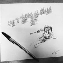 Untitled Skier. 2014. 8x11