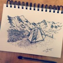 Indian Peaks Tent. 2014. 5x7