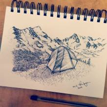 Indian Peaks Tent. 2014. 5x7
