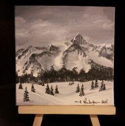 Mini 14er. 2014. Acrylic on canvas board. 4x4