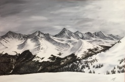 Tenmile from Copper. 2016. Acrylic on canvass. 24x36