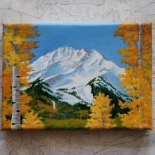 A Colorado Fall. 2016. Acrylic on canvas. 5x7. SOLD