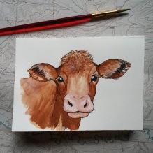 Cow Retirement card. 2017