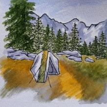 Pitkin Campsite 2017. My 2nd watercolor