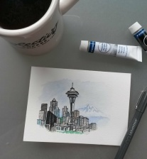 Seattle thank you card