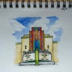 Boulder Theater. 5x7 Watercolor