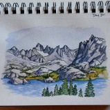 Island Lake WRR. 5x7 Watercolor